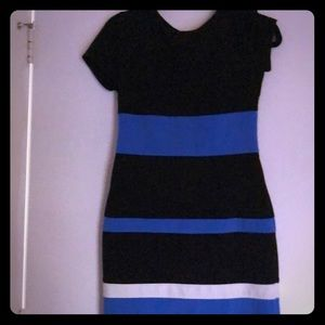 Tommy Hilfiger midi color block dress
